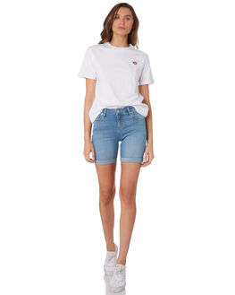 WHITE WOMENS CLOTHING LEE TEES - L-651879-060WHI