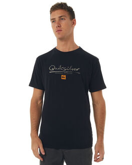 BLACK MENS CLOTHING QUIKSILVER TEES - EQMZT03043KVJ0
