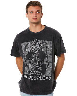 SMASHED BLACK MENS CLOTHING THE PEOPLE VS TEES - SS18007SBLK