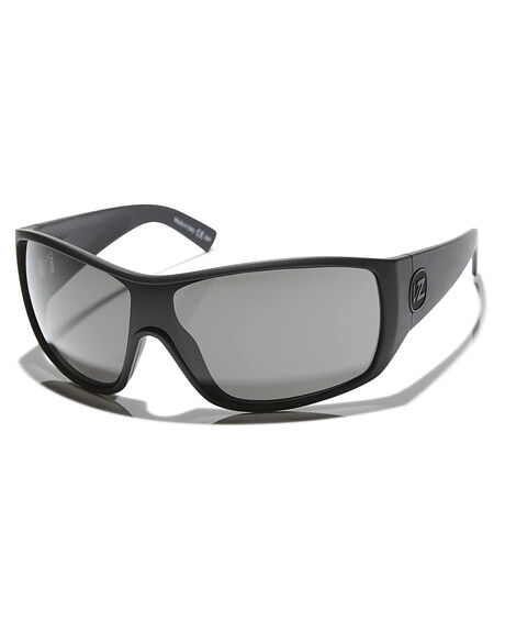 BLACK SATIN GREY MENS ACCESSORIES VONZIPPER SUNGLASSES - SMSBERBKSBLKST