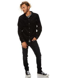 BLACK MENS CLOTHING RUSTY SHIRTS - WSM0786BLK