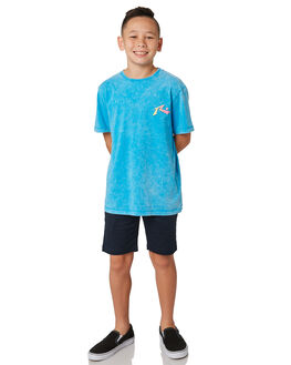 WRASSE BLUE KIDS BOYS RUSTY TOPS - TTB0611WRB