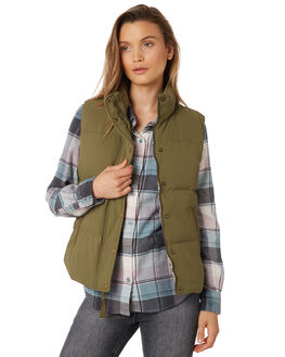 FATIGUE GREEN WOMENS CLOTHING PATAGONIA JACKETS - 27875FTGN