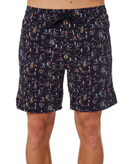 NAVY COMBO MENS CLOTHING ACADEMY BRAND SHORTS - 19S640NVCOM