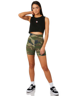 CAMO WOMENS CLOTHING STUSSY SHORTS - ST183618CAMO