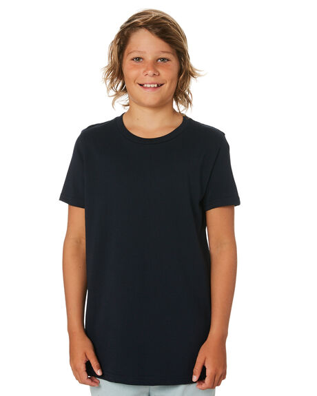 NAVY KIDS BOYS AS COLOUR TOPS - 3006-NVY