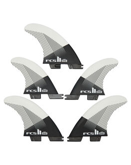 BLACK WHITE BOARDSPORTS SURF FCS FINS - FDHM-PC01-FS-RBLKWH