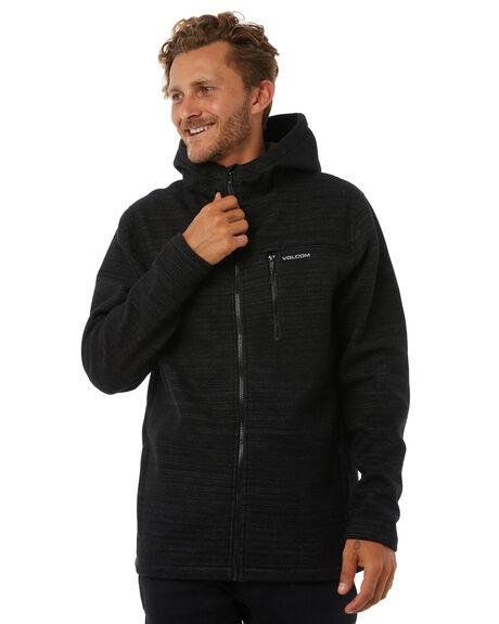 BLACK MENS CLOTHING VOLCOM JUMPERS - A5831701BLK