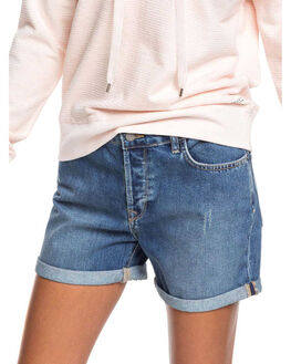 MEDIUM BLUE WOMENS CLOTHING ROXY SHORTS - ERJDS03226-BMTW