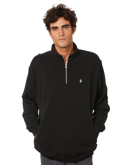 BLACK MENS CLOTHING VOLCOM JUMPERS - A4612108BLK