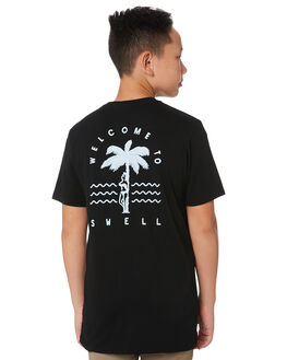 BLACK KIDS BOYS SWELL TOPS - S32011004BLACK