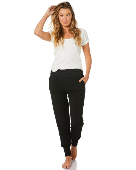 BLACK WOMENS CLOTHING SILENT THEORY PANTS - 6034044BLK