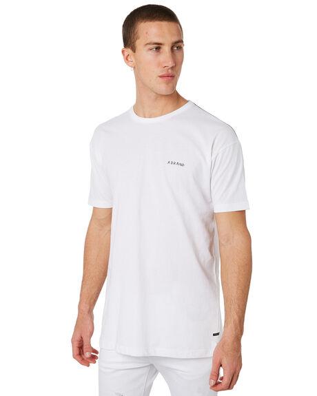WHITE SCRAWL MENS CLOTHING A.BRAND TEES - 81228WHTSC