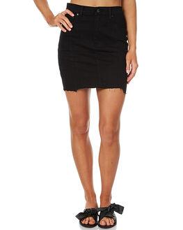 BLACK CHOP WOMENS CLOTHING ZIGGY SKIRTS - ZW-1297BLK