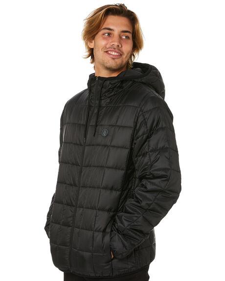 BLACK MENS CLOTHING VOLCOM JACKETS - A1631906BLK