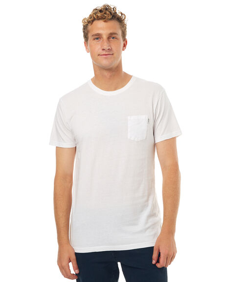 WHITE MENS CLOTHING RHYTHM TEES - JUL17-CT01-WHT