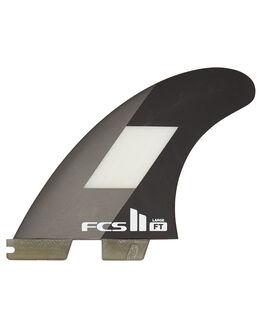 GREY BLACK BOARDSPORTS SURF FCS FINS - FFTL-PC01-LG-TS-RGRB