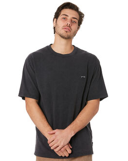 BLACK MENS CLOTHING RUSTY TEES - TTM2263BLK