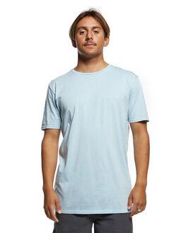 AIRY BLUE MENS CLOTHING QUIKSILVER TEES - EQYKT03902-BFA0