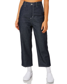BLUE RIGID WOMENS CLOTHING CARHARTT JEANS - I0260290101