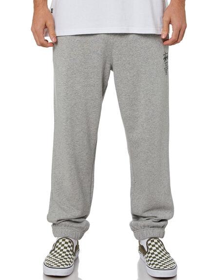 TRUE GREY MARLE MENS CLOTHING STUSSY PANTS - ST015603TRUGM