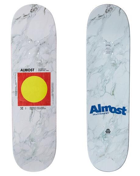 WHITE BOARDSPORTS SKATE ALMOST DECKS - 10023725WHT