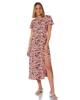 MONET FLORAL DARK WOMENS CLOTHING RUE STIIC DRESSES - SA-20-07-1MONET