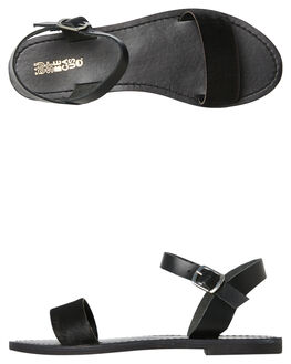 BLACK PONY WOMENS FOOTWEAR JUST BECAUSE FASHION SANDALS - CHV4058BKBK