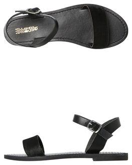 BLACK PONY WOMENS FOOTWEAR JUST BECAUSE FASHION SANDALS - CHV4058BKBK