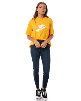 ROLLAS BLUE WOMENS CLOTHING ROLLAS JEANS - 124681882