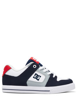 WHITE/NAVY/RED KIDS BOYS DC SHOES SNEAKERS - ADBS300267-WNR