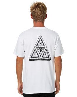 WHITE MENS CLOTHING HUF TEES - TS00048WHT
