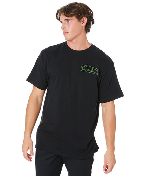 BLACK MENS CLOTHING DYED TEES - DY20ACHBLK