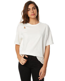 WHITE WOMENS CLOTHING CAMILLA AND MARC TEES - OCMT6578WHT