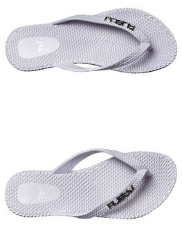 WHITE KIDS GIRLS RUSTY THONGS - FOG0001WHT