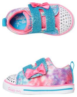 RAINBOW CUTIES KIDS GIRLS SKECHERS FOOTWEAR - 20147NMLT