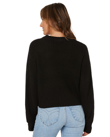 BLACK WOMENS CLOTHING ALL ABOUT EVE KNITS + CARDIGANS - 6456122BLK