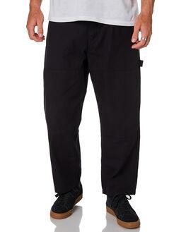BLACK MENS CLOTHING POLAR SKATE CO. PANTS - PSC-93CANVAS-BLK