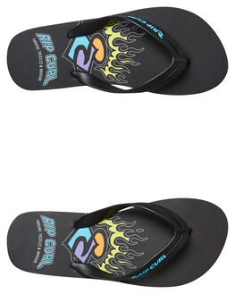 BLACK LIME KIDS BOYS RIP CURL THONGS - TKTE051904