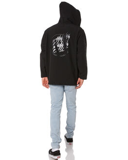 BLACK MENS CLOTHING SANTA CRUZ JACKETS - SC-MJA9132BLK