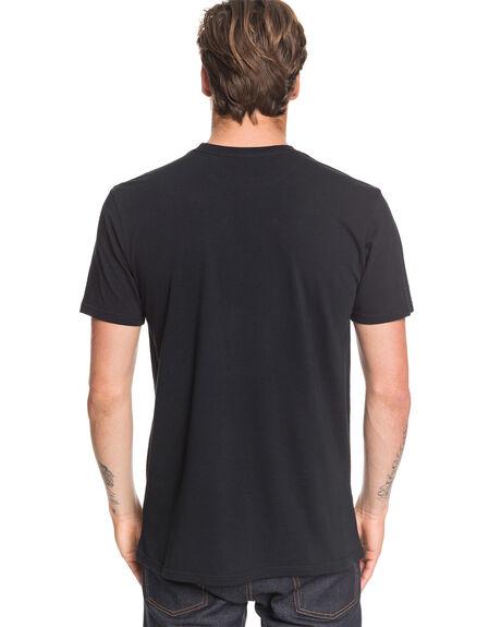 BLACK MENS CLOTHING QUIKSILVER TEES - EQYZT05670-KVJ0