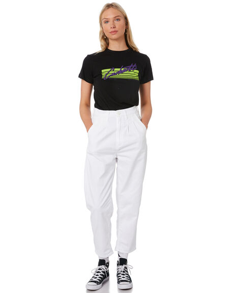 BLACK WOMENS CLOTHING CARHARTT TEES - I027837BLK