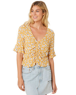FORGET ME NOT PRINT OUTLET WOMENS SASS FASHION TOPS - 13373TWSSFOR