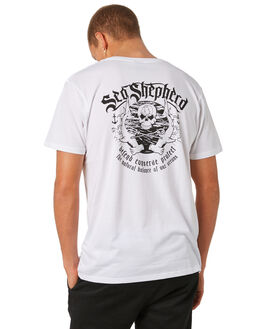 WHITE MENS CLOTHING SEA SHEPHERD TEES - SSA52BWHT