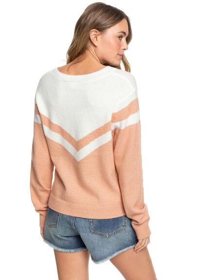CAFE CREME WOMENS CLOTHING ROXY JUMPERS - ERJSW03378-TJB0