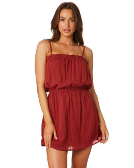 BURGUNDY WOMENS CLOTHING MINKPINK DRESSES - MP1806461BURG