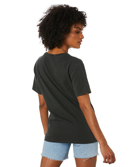 BLACK WOMENS CLOTHING VOLCOM TEES - B3532076BLK