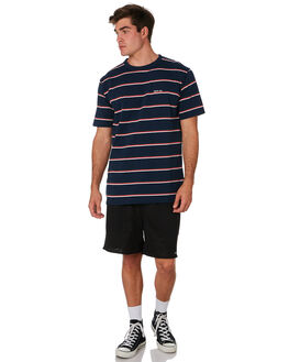 NAVY STRIPE MENS CLOTHING RPM TEES - 9PMT01CNVYST