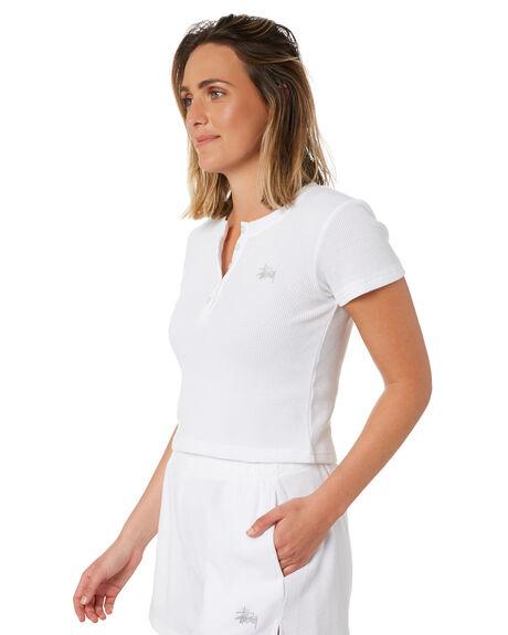 WHITE WOMENS CLOTHING STUSSY TEES - ST102100WHT
