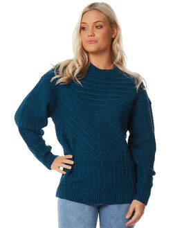DEEP TEAL WOMENS CLOTHING RUSTY KNITS + CARDIGANS - CKL0343DPT